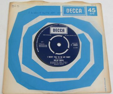 "Billie Davis I WANT YOU TO BE MY BABY 1968 UK 7"" MOD NEAR MINT AUDIO"